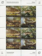 Bosnia & Herzegovina 2018 MNH Fauna Freshwater Fish 8v M/S Fishes Stamps