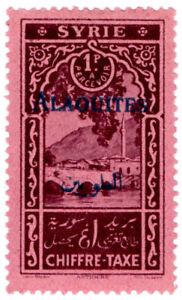 (I.B) Syria Postal : Postage Tax 1pi (Alaouites)
