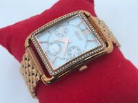 Relic Brand Women Watch Gold Tone Multi Function Analog Wrist Watch WR 100M