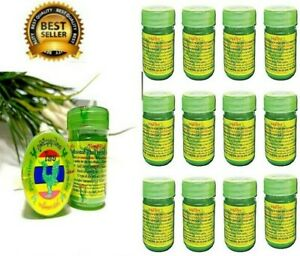 12 PCS. HONG THAI Herbal Aroma Nasal Inhaler Natural Thai Fever&Cough Relief