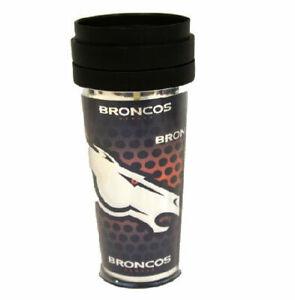 NFL Denver Broncos Travel Tumbler Coffee Mug Cup 16oz