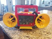 Disney Phineas and Ferb CD Player Best Boom Box Ever Sound Effects DJ AUX Input
