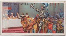 King's Champion At Coronation Banquet Of King Henry V  100 Y/O Ad Card