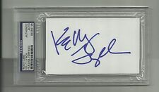 Kelly Lynch Signed 3x5 index card PSA/DNA Auto