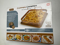 COPPER CRISPER BY COPPER SHEF OVEN INTO AIR FRYER 2 PEICE SET 360 COOKING NEW!