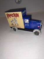 HOMERUN  CHEWING GUM DELIVERY TRUCK COLLECTORS SERIES VINTAGE TIN CAR