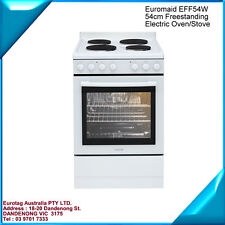 Euromaid EFF54W 54cm Freestanding Electric Oven/Stov box damaged only BRAND NEW