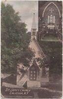 New York NY Postcard 1913 CALICOON St James Church