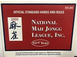 2020 National Mah Jongg League Official Standard Hands & Rules Cards .* LARGE*
