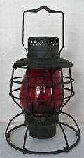 PD NYC Police Department New York City Kerosene Traffic Lantern w Red Globe