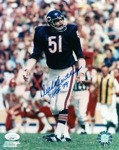 DICK BUTKUS SINGLE SIGNED 8X10 PHOTO JSA COA AUTO AUTOGRAPH CHICAGO BEARS HOF 79
