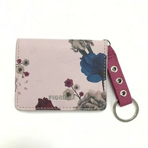 Fiorelli Ladies Pink & Multi Floral Design ID & Card Holder With Keychain 422408