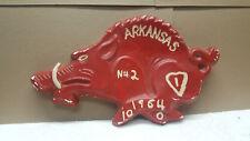 Vintage 1964 Arkansas Razorbacks NCAA Football Home Made Ceramic Hogs Plaque