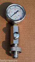 SCUBA Air Gun Cylinder pressure check gauge DIN 232 300 Bar with 63mm Dia gauge