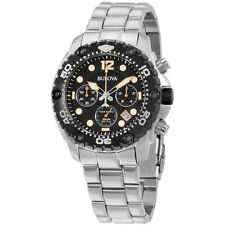 Bulova Sea King Black Dial Stainless Steel Men's Watch 98B244