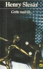 HENRY SLESAR CETTE NUIT LA...   CLUB DES MASQUES 499