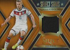 2015 Panini seleccionar fútbol Lukas podoloski 114/149 jugador Usada Jersey Reliquia