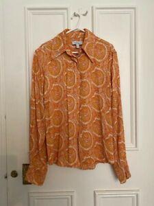 Women's & Other Stories paisley orange 60s style shirt – UK 8 / EU 34