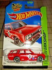 2014 Hot Wheels 1971 Datsun Bluebird 510 Wagon Red HW Workshop