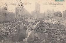 CPA GUERRE 14-18 WW1 MEUSE VILLERS-AUX-VENTS rue principale timbrée 1915