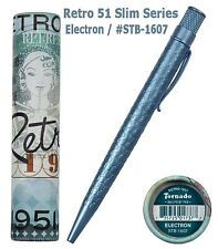 Retro 51 Electron / #STB-1605  Slim Series Acid Etched Tornado Ball Point Pen