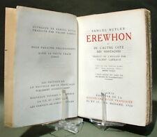 BUTLER - LARBAUD : Erewhon ou de l'autre côté des montagnes - Ex. G. Gallimard