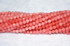 """new 4mm Natural Faceted Rhodochrosite Gemstones  Round Loose Beads 15"""""""