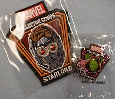 Marvel STAR-LORD PATCH GAMORA PIN Collector Corps Guardians of the Galaxy 2 NEW