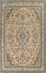 Antique Floral Oriental Traditional Area Rug Evenly Low Pile Handmade Wool 10x14
