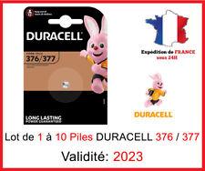 DURACELL - Lot de 1 à 10 Piles 376-377 SR626  AG4 - SR66 - Montre 1,5V DLC 2023