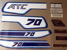 HONDA ATC 70 set adesivi serbatoio di avvertimento consigli per vintage triciclo Adesivo 1981