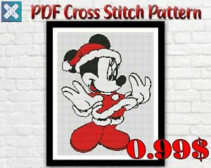 Disney Minnie Mouse Easy Cute Counted PDF Cross Stitch Pattern Needlework DMC