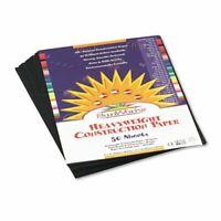 "PACON Sunworks Construction Paper 9"" x 12"" 50 Count - Black"