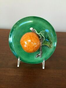 Antique Majolica Trompe L'oeil Mandarin Orange Bowl with Lid Portugal (F)