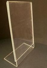 5X DIN A 4 hauteur plexi étiquettes de prix L-Support Panneau/ÉTIQUETTE NEUF