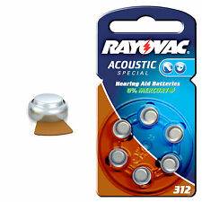 60x HA312 Rayovac 312 Acoustic Special Batterien Hörgerät HA312, PR41