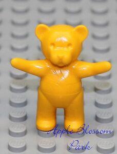 NEW Lego Belville Bright Light ORANGE TEDDY BEAR - Minifig/MinifigureToy Animal