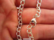 Sterling Silver Charm Chain Bracelet - Double Link - USA