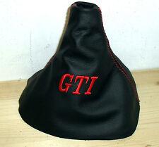 CUFFIA CAMBIO adatta GOLF 4 GTI  Vera pelle NERA Made in Italy