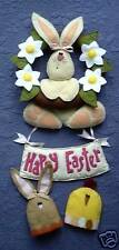 PRIMITIVE FOLK ART SEWING PATTERN 'EASTER GREETINGS'  BUNNY WREATH & EGG COSIES