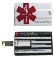 Credit Card CC, Medical Alert ID - Key2Life 4GB USB (Electronic Health Records)