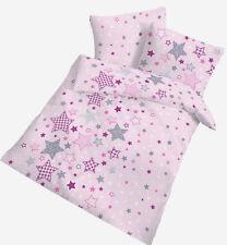 Baby Bettwäsche 100x135 cm Sterne rosa 17834 BIBER B Ware