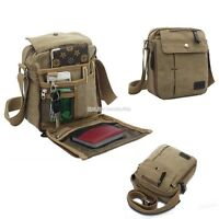Men's Vintage Canvas Messenger Shoulder Bag School Travel Cross Body Satchel