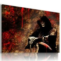 SKULL DEATH BONES GHOST FANTASY MODERN CANVAS WALL ART PICTURE AB650  MATAGA .