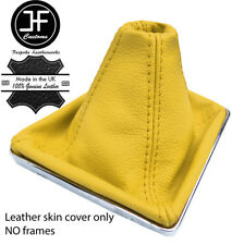 YELLOW TOP GRAIN REAL LEATHER GEAR GAITER FOR VAUXHALL OPEL ASTRA MK5 H 2004-09
