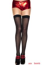 Calze Autoreggenti Nere collant Ricamate intimo lingerie donna Fashion GLAMOUR !