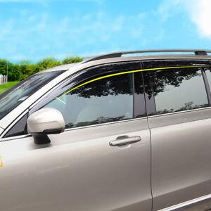 For Volvo XC90 2015-2020 Accessories Window Visor Vent Sun Rain Deflector Trim