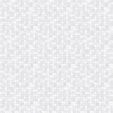 G67421 - Natural FX Metallic, Silver, White Mosaic Tile Effect Galerie Wallpaper