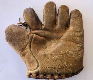 Vtg 1920s Al Simmons R.H Macys NY Baseball Glove Youth Mitt Buckle Back Rare HOF