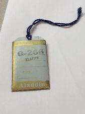 Aladdin lamp Original G-266 Tag And Sales Leaflet #6027